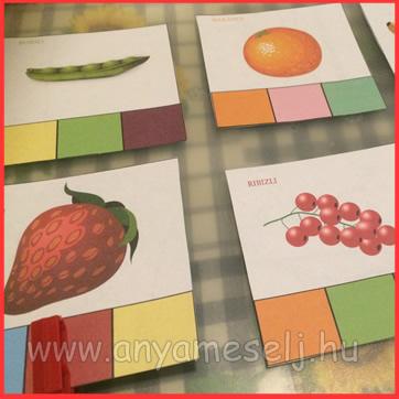 mesés játék zöldséggel,gyümölcsökkel