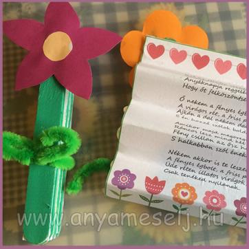 virágba zárt üzenet anyának anyák napjára