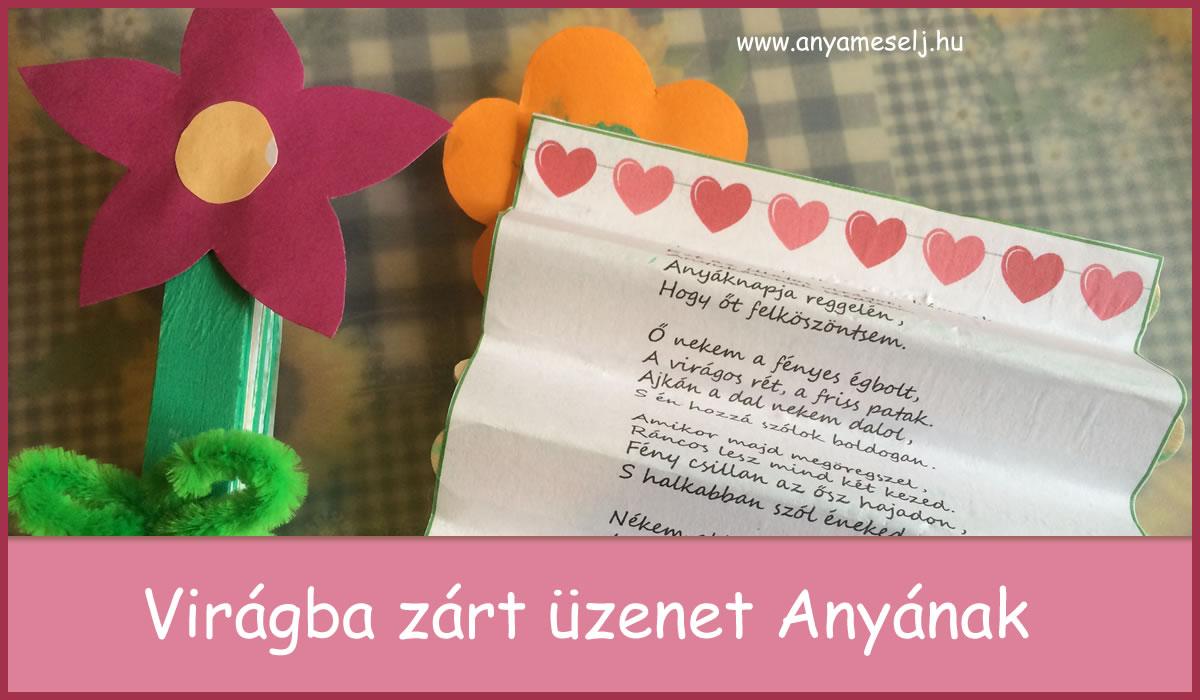 Virágba zárt üzenet Anyának