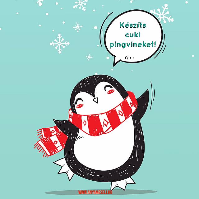 Készíts cuki pingvinek kézlenyomatból (videó)