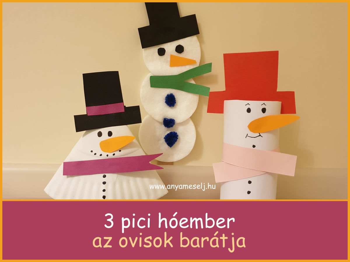 Három pici hóember az ovisok barátja