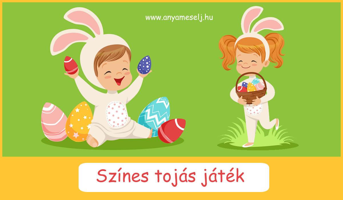 Színes tojás játék